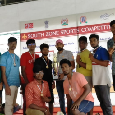 BEC sports club Boys Kabaddi team won 1st place in School Games Development Federation of India (SGDFI) organized South zone sports competition 2020-2021 KABADDI Tournament @ Texvalley, Chithode on 08.08.2021.