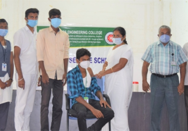 NSS organized COVID'19 Vaccination Camp on 03.09.21